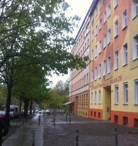 Un bâtiment coloré à Berlin
