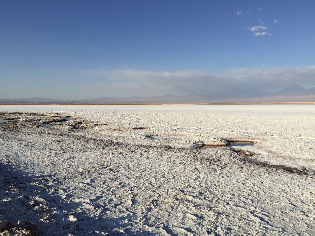 Un désert de sel dans le nord du Chili