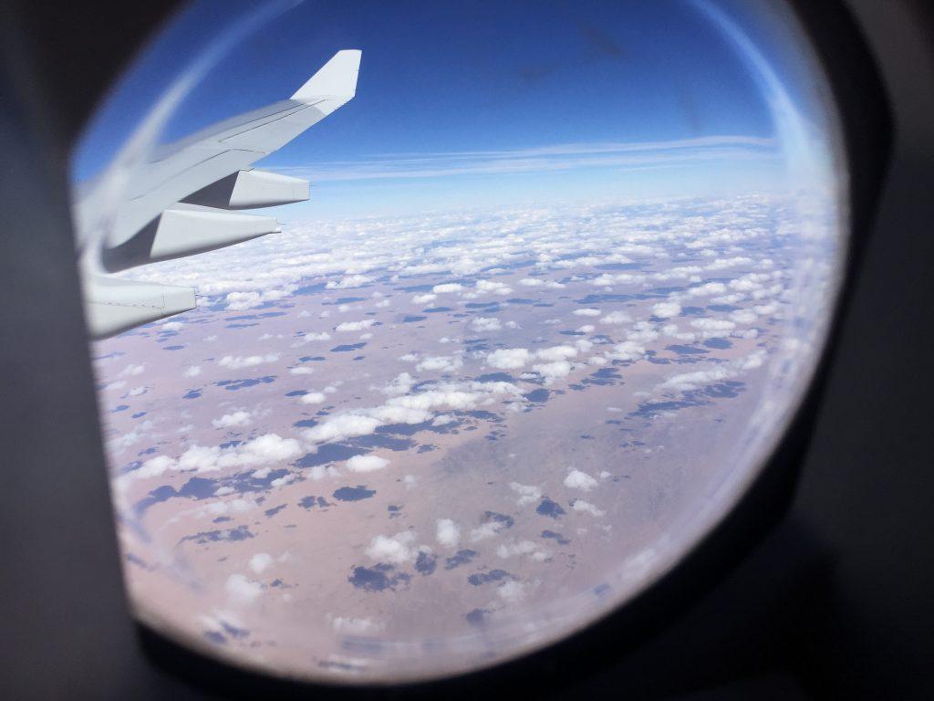 Le désert de Gobi vu du ciel