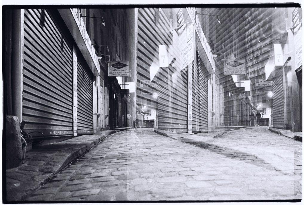 Le passage du chantier dans le 12 ème à côté de Bastille