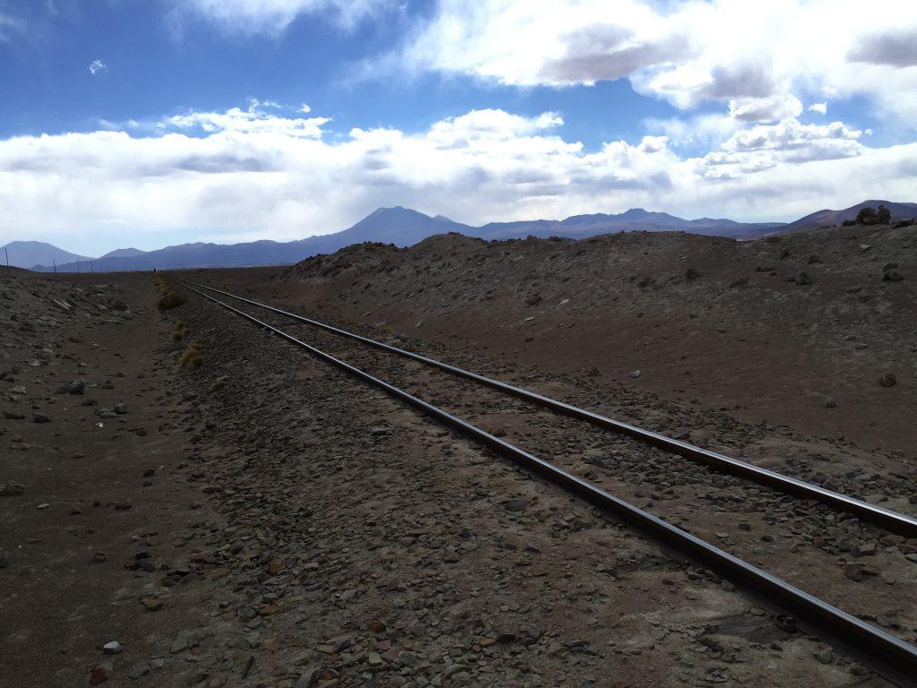 Une ligne de chemin de fer quelque part dans le Sud de la Bolivie