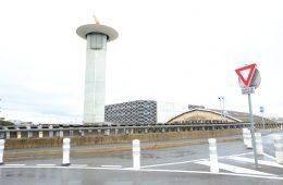 L'aéroport de Nice Côte d'Azur sous la pluie