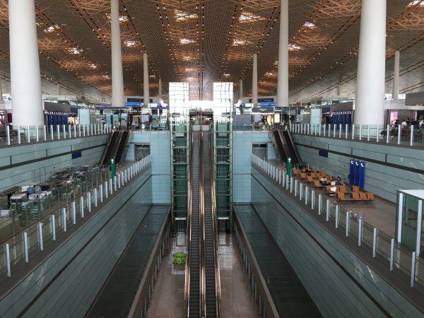 Avant le départ de l'aéroport de Pékin