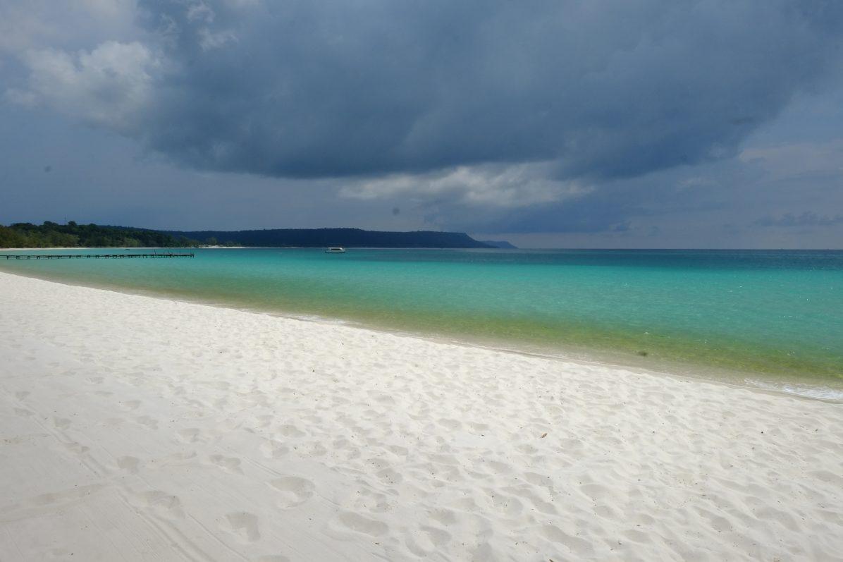 Une plage quelque part au large du Cambodge