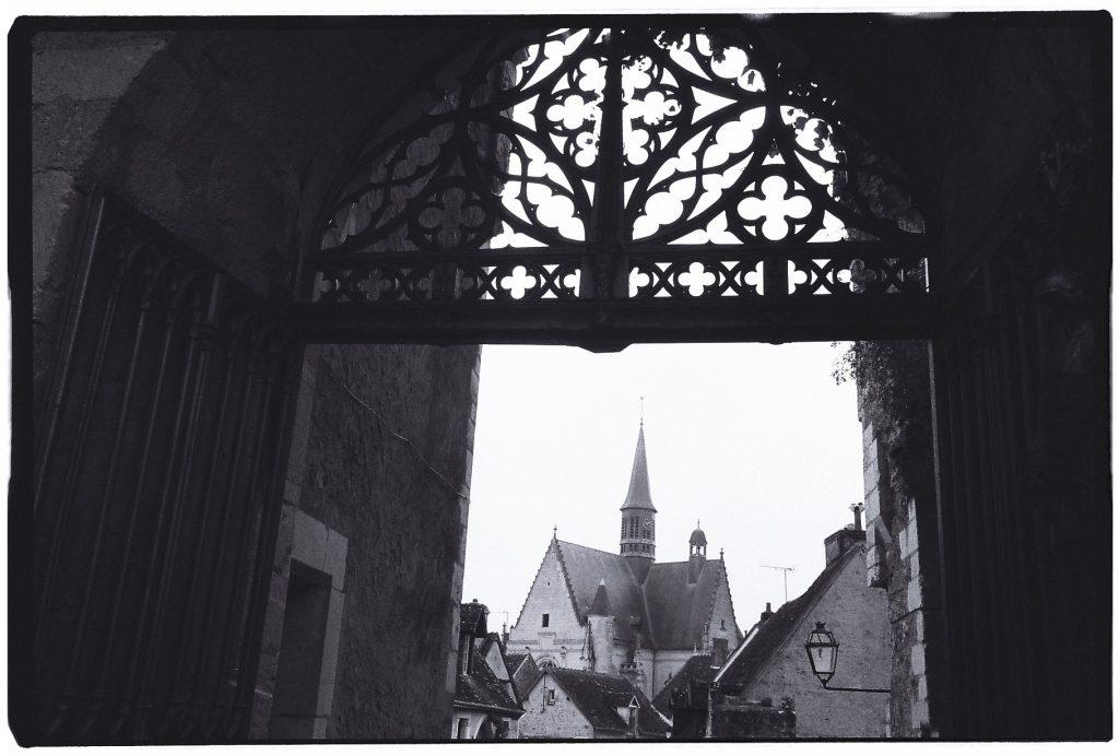 Vue sur la ville depuis le château de Montrésor