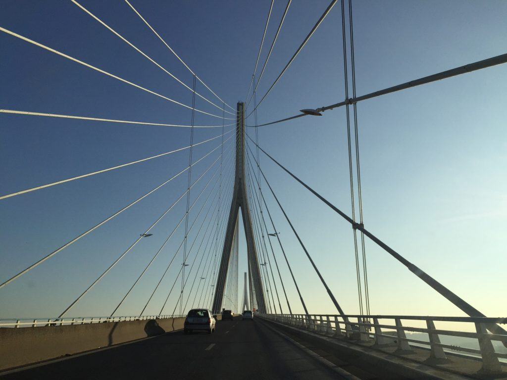 Le pont de Normandie, l'un des plus grands ponts de France