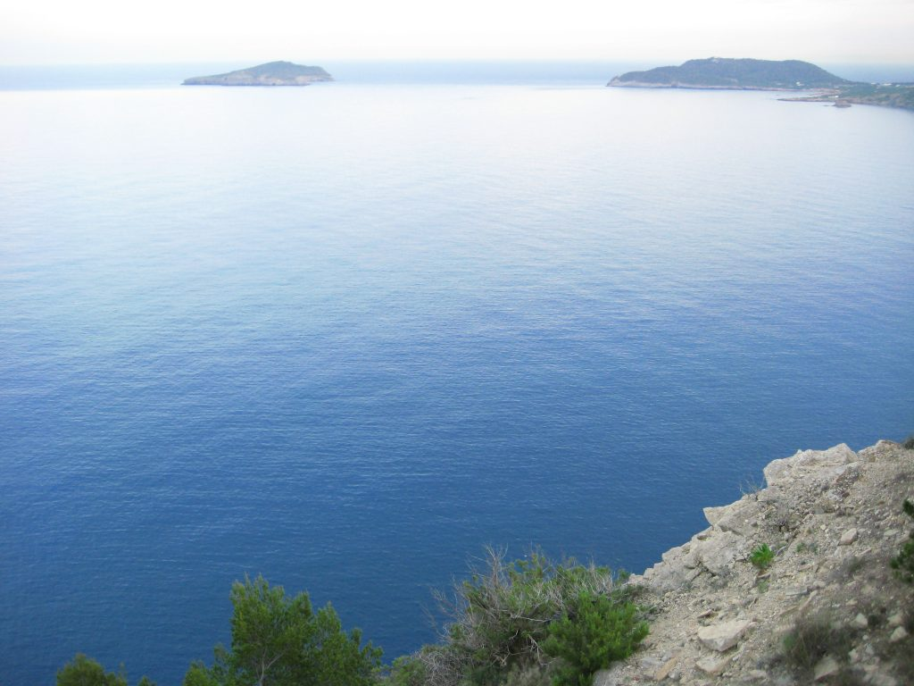 La côte ouest de l'île d'Ibiza