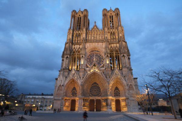 La cathédrale de Reims, l'une des villes les plus ensoleillées de France