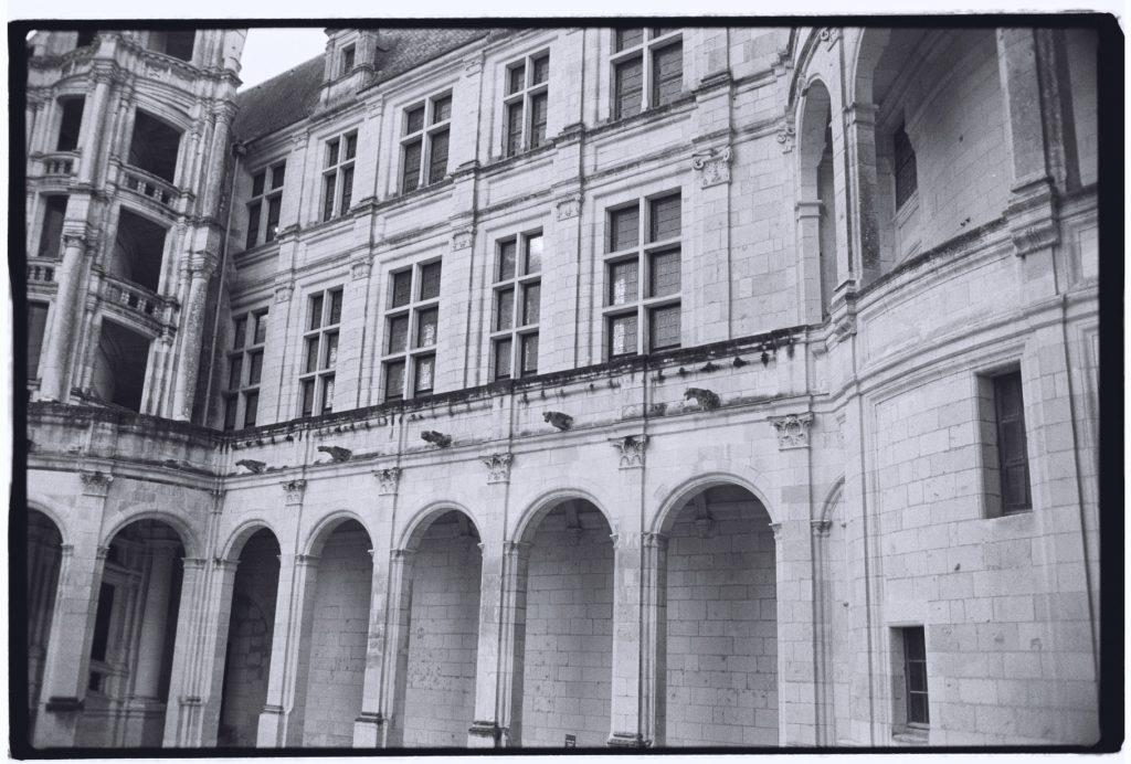 La cour intérieure du château de Chambord