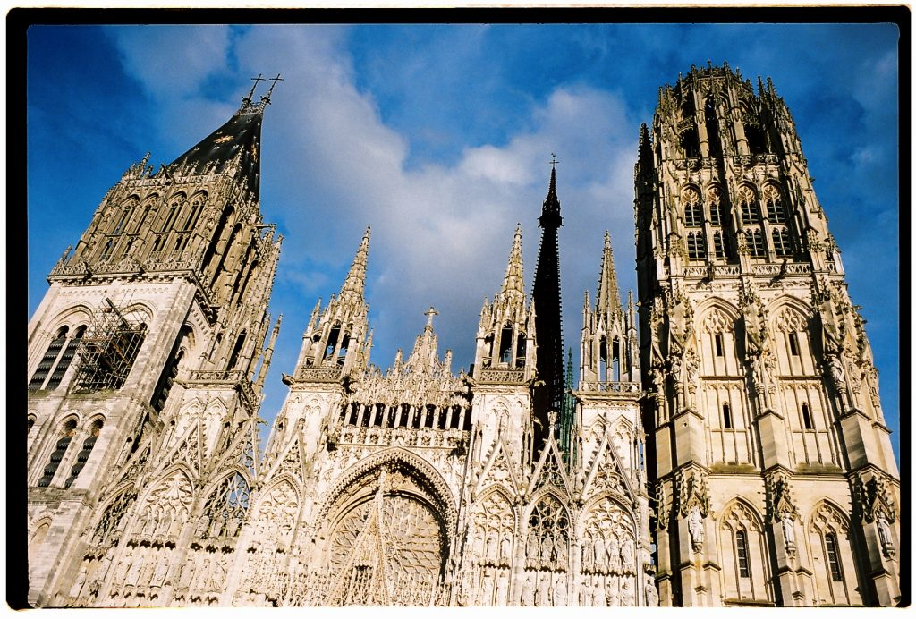 La façade de la cathédrale de Rouen