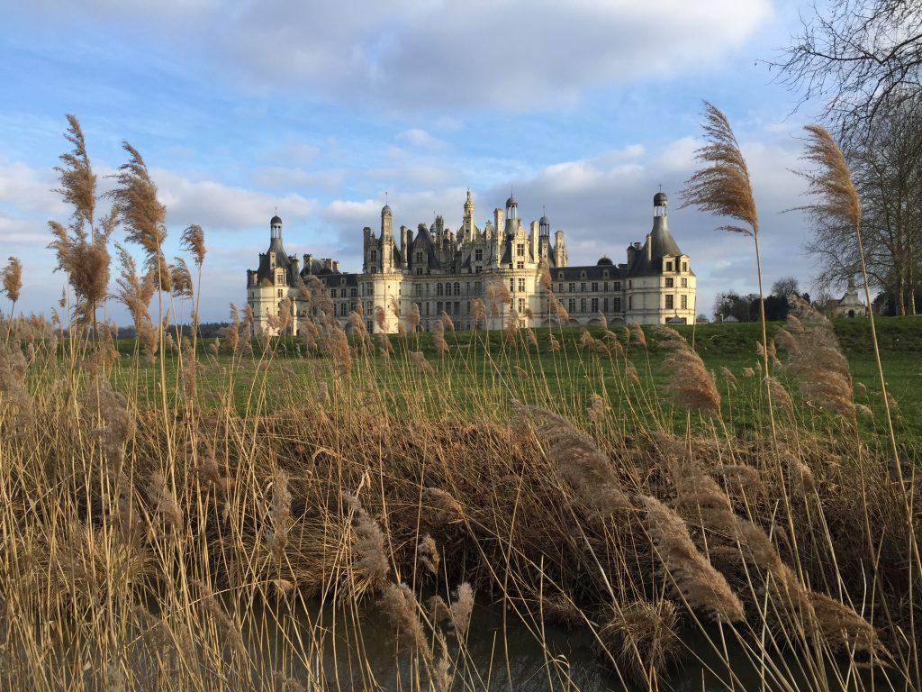 Le château de Chambord perdu dans les herbes folles