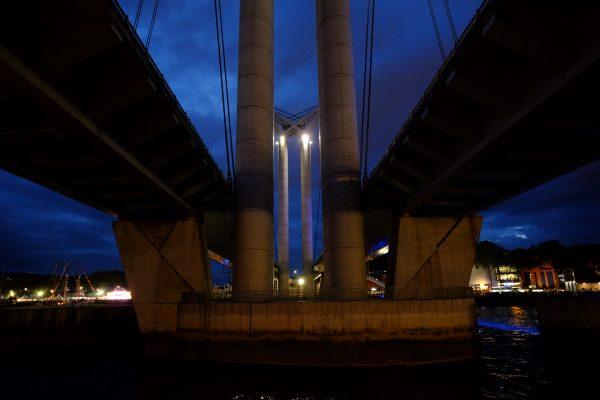 Un pont levant insolite à Rouen