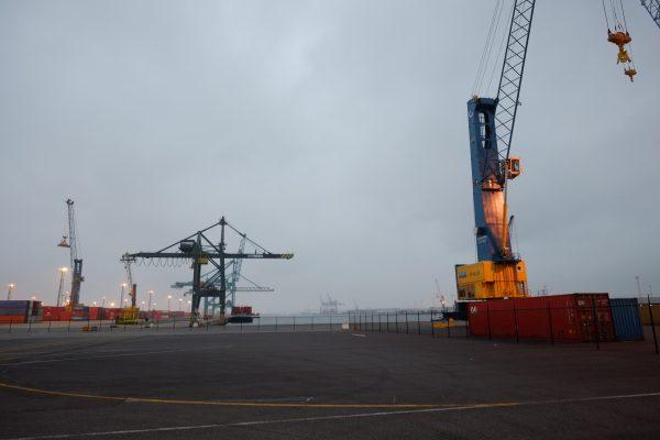 Le port d'Anvers en Belgique