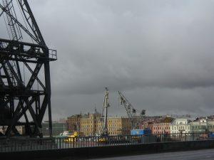 Les abords du port de Saint Petersbourg