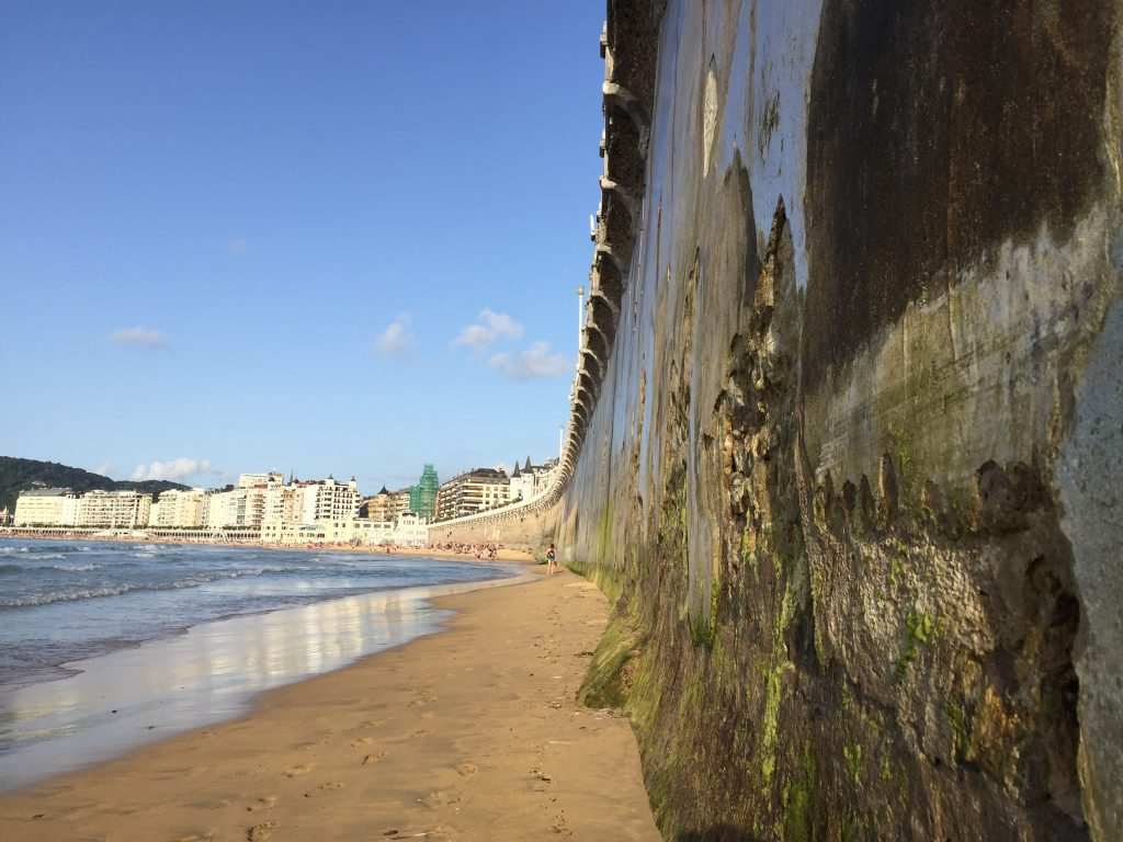 Sur la plage de la Concha à San Sebastian