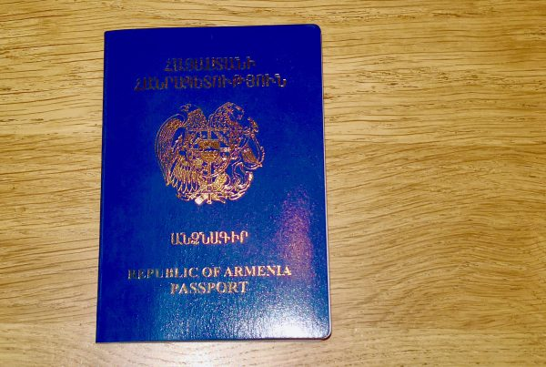 Un passeport bleu