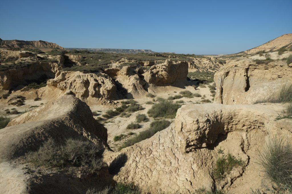 Un désert de pierres au milieu de la Navarre en Espagne