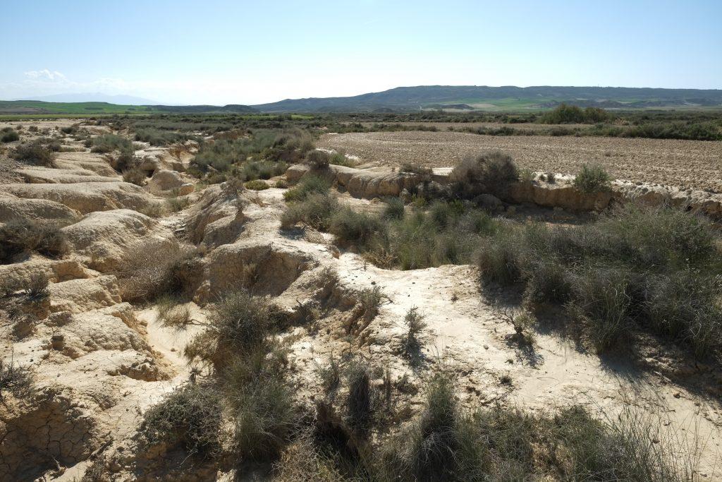 Une rivière asséchée en Navarre, Las Banderas Reales