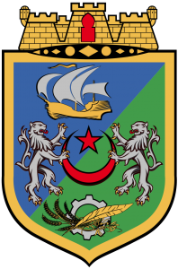 Les armoiries de la ville d'Alger, l'une des plus grandes villes d'Afrique