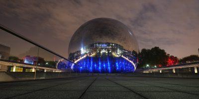 La géode à la cité des sciences et de l'industrie