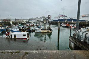 Le port du Havre un jour de mauvais temps