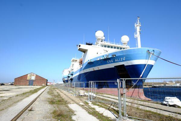 Sur les quais du port de Dunkerque