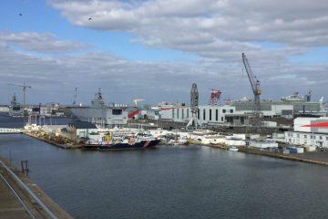 Vue imprenable sur l'un des plus grands ports de France, le port de Saint-Nazaire