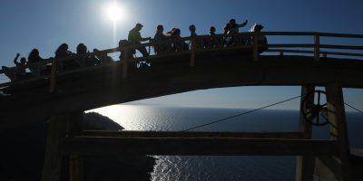 Une photo prise face au soleil à San Sebastian