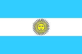 drapeau Argentine, l'un des plus grands pays d'Amérique