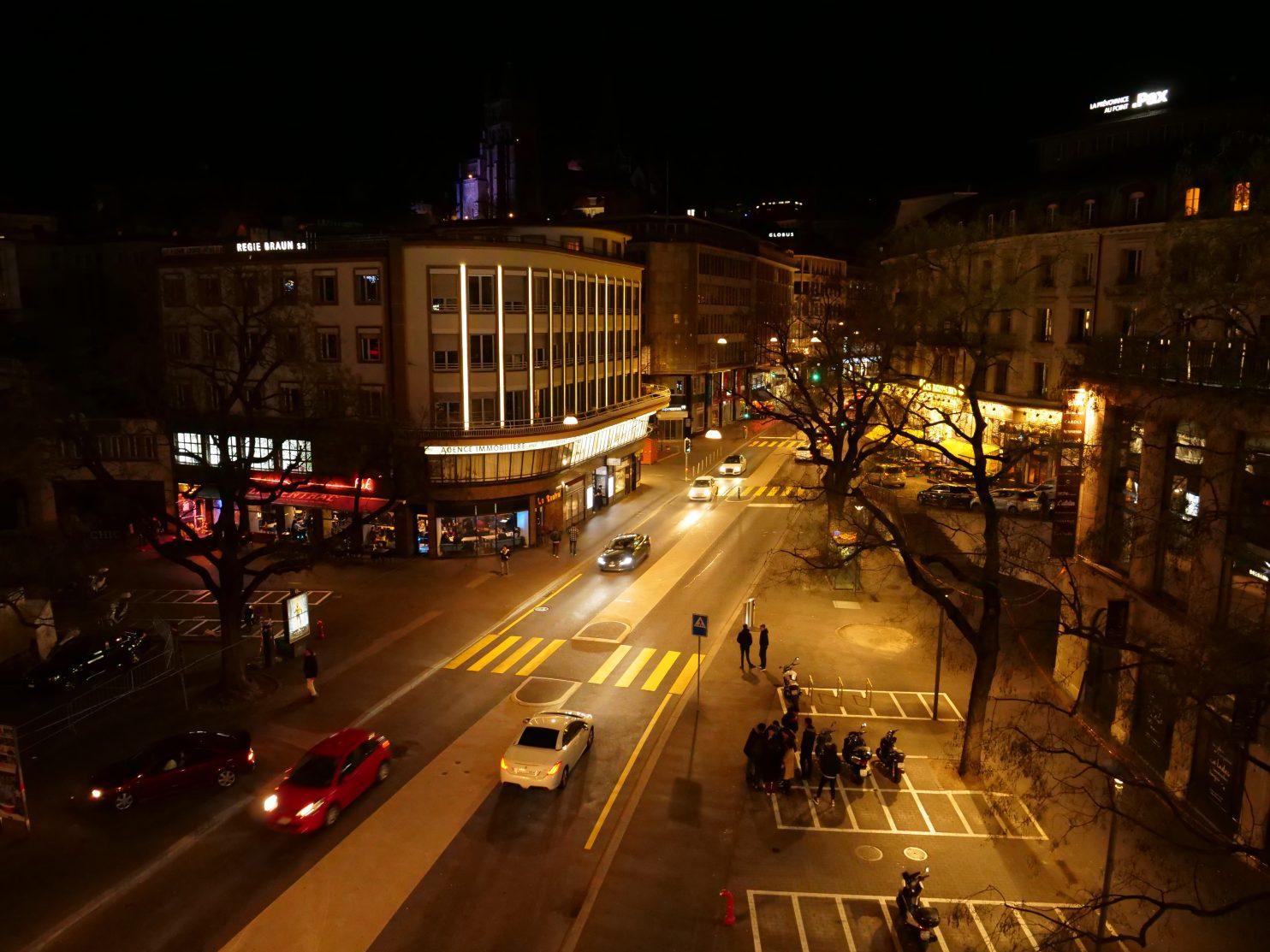 Lausanne la nuit, l'une des plus grandes villes du pays