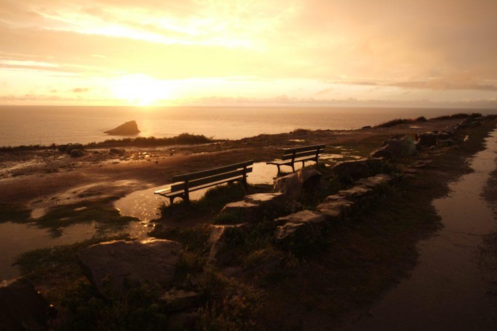 Le Cap Fréhel au coucher du soleil