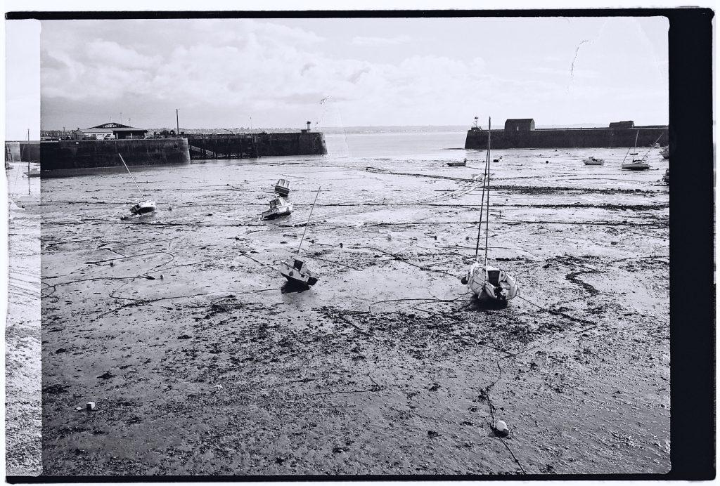 Le port de Granville à marée basse