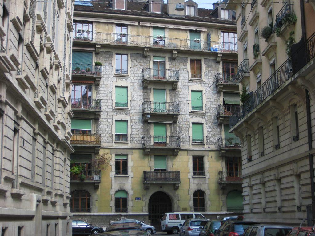 Le quartier des Eaux Vives à Genève