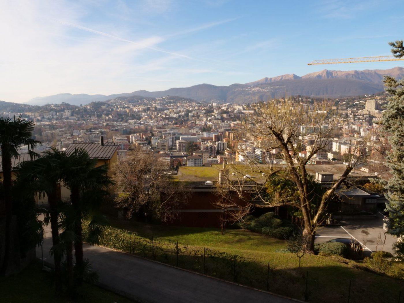 Lugano une ville du sud de la Suisse