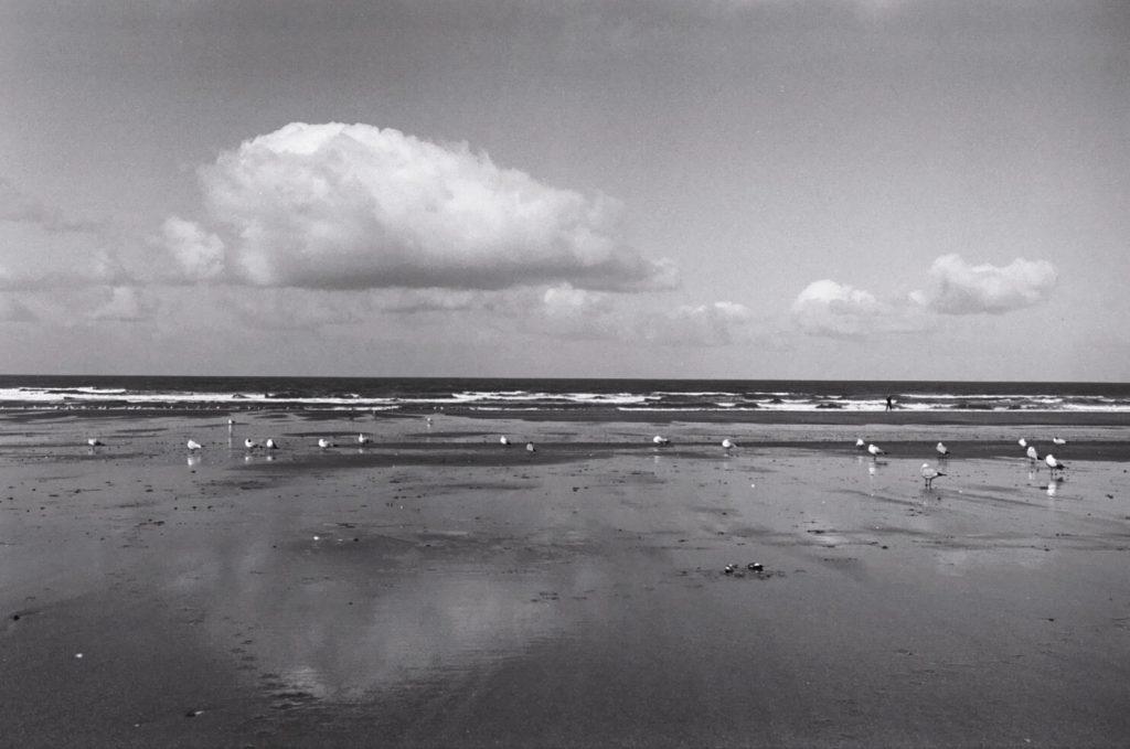 Sur la plage à Houlgate en Basse Normandie