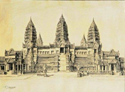temple d'angkor par Gaumet en 1931