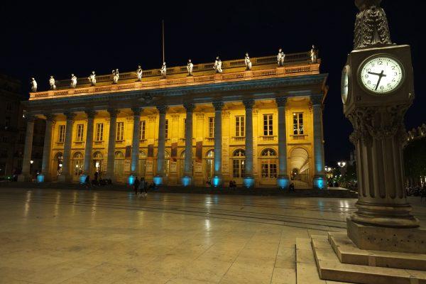 L'Opéra national de Bordeaux, la nuit