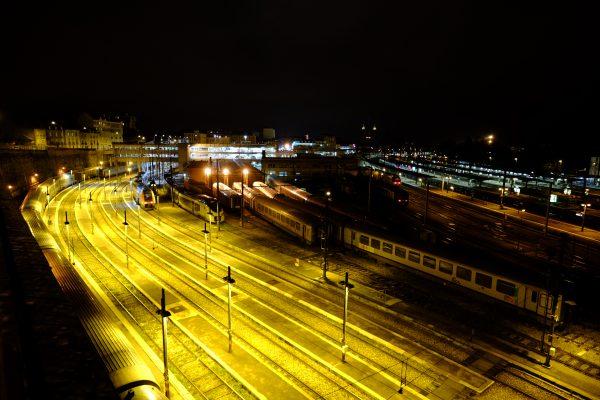La gare de Dijon, la nuit