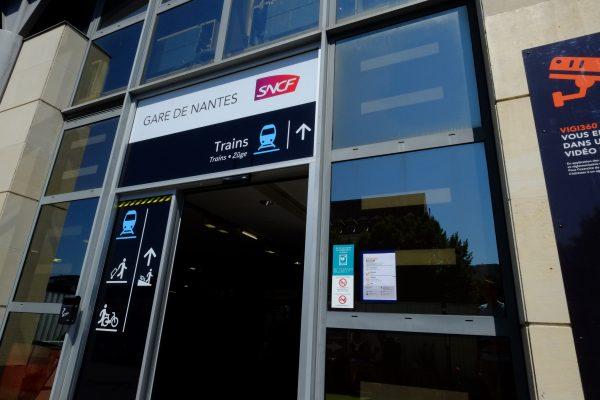 L'entrée sud de la Gare de Nantes