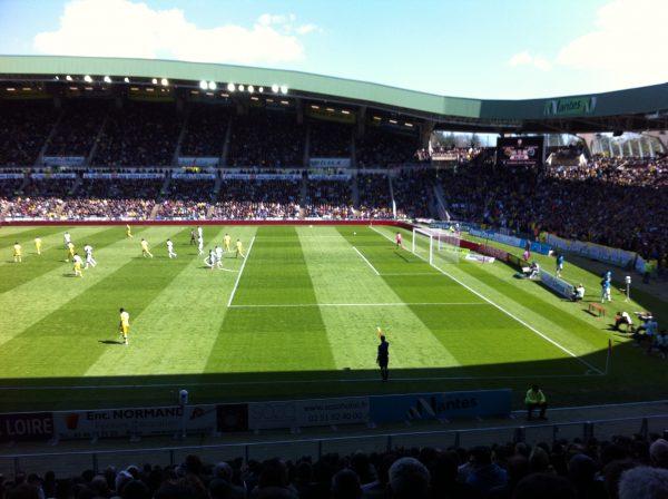 Le Stade de la Beaujoire à Nantes, lors de l'anniversaire des 70 ans du club