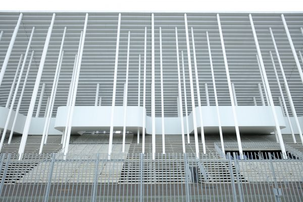 Les tribunes du stade de football à Bordeaux
