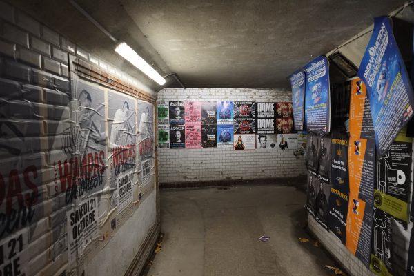 L'une des portes de sortie du festival Rock en Seine