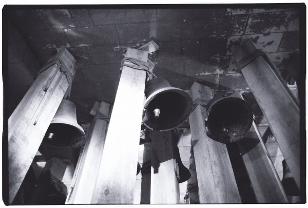 Quelques cloches installées sur le domaine du château de Chaumont sur Loire