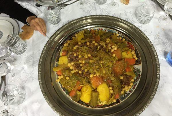 Dégustation d'un couscous au palais Faraj