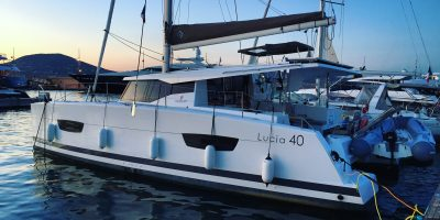 Le Lucia 40 du chantier Fountaine Pajot, 1 semaine de navigation