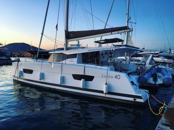 Le Lucia 40 du chantier Fountaine Pajot, 1 semaine de navigation
