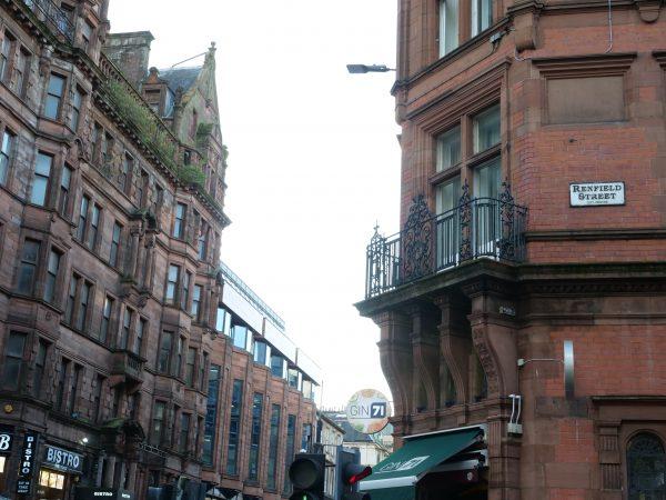 L'architecture typique du centre ville de Glasgow