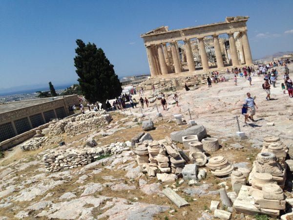 Les ruines de l'Acropole à Athènes, classées à l'UNESCO
