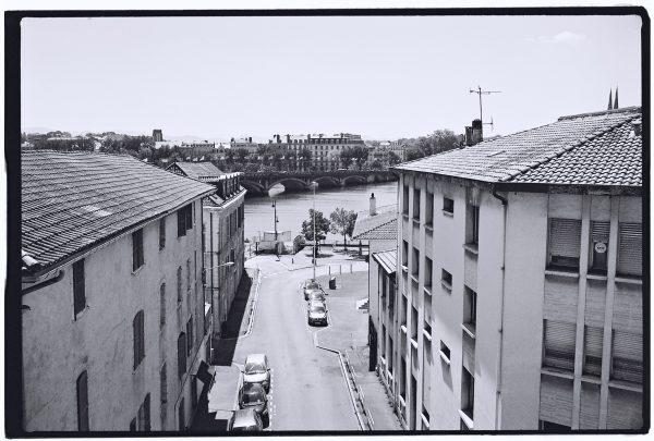 Vue sur la ville de Bayonne depuis les toits de la gare de Bayonne