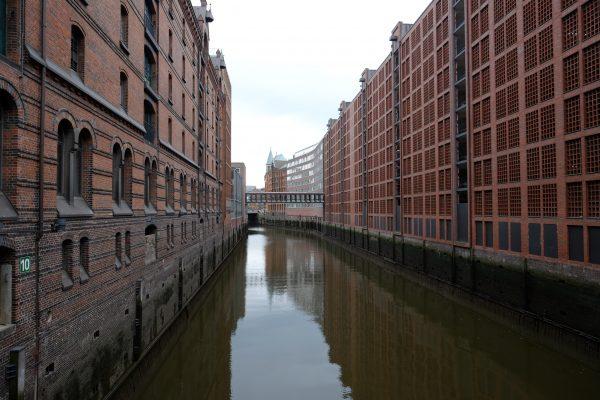Autère mais intrigante voici la Speicherstadt à Hambourg
